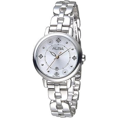 ALBA 阿芙蘿黛蒂女神晶鑽時尚女錶-銀白(AH7L57X1)/30mm