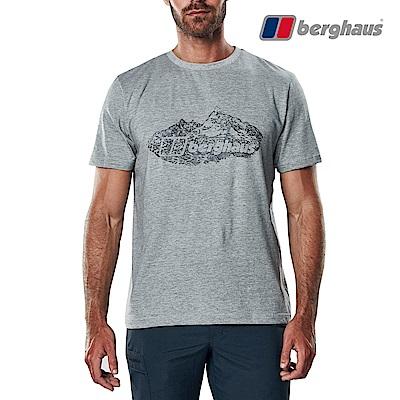 【Berghaus貝豪斯】男款山峰印花圓領T恤S04M14-灰