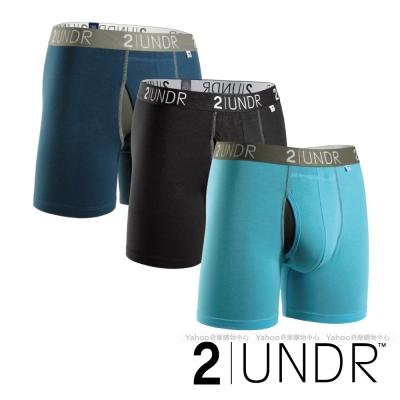 2UNDR Swing Shift 莫代爾吸排四角內褲(6吋)- 黑藍三入組