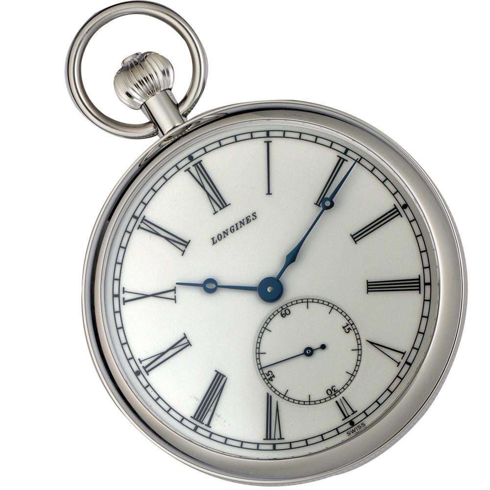 LONGINES 180週年紀念限量手動上鍊懷錶(附錶鍊)