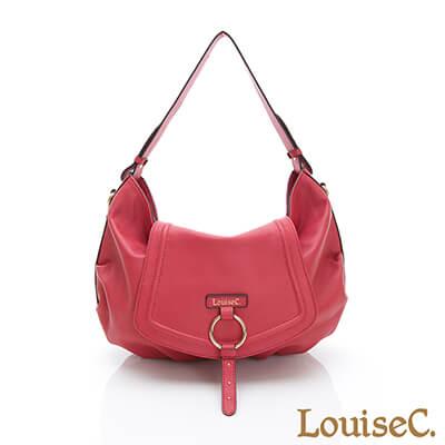LouiseC. 義大利牛皮歐風浪漫肩背包-紅色-02C01-0054A01