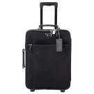 PRADA 三角LOGO尼龍拼接設計行李箱(22吋/黑色)
