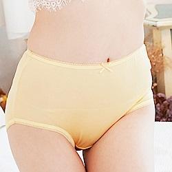 內褲 寵愛優雅100%蠶絲高腰三角內褲 (黃) Chlansilk 闕蘭絹