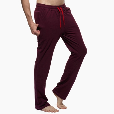 PS 美式風格舒適純棉長褲(紫紅色)