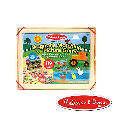 美國瑪莉莎 Melissa & Doug 益智遊戲 - 木質磁鐵貼場景創作遊戲板