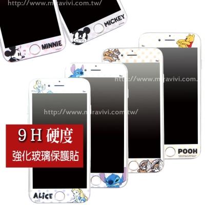 Disney迪士尼iPhone 7 Plus 9H滿版玻璃保護貼_白色系列