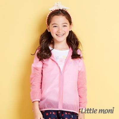 Little moni 夏日清透果凍防曬風衣外套  粉紅