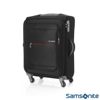 Samsonite新秀麗 20吋Populite四輪TSA超輕量可擴充布面行李箱(黑)