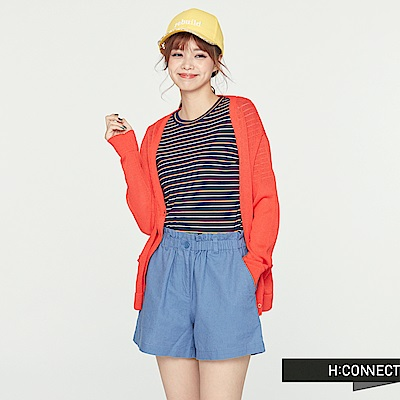 H:CONNECT 韓國品牌 女裝-後露背針織薄外套 -紅 - 動態show
