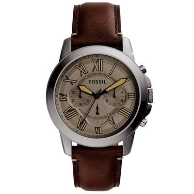 FOSSIL 古典伯爵三環計時腕錶-多品任選均價