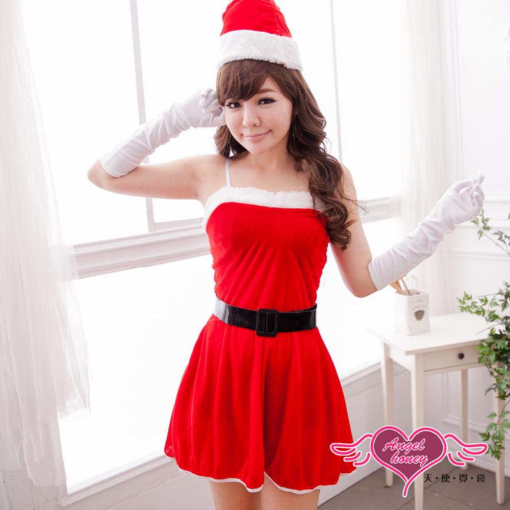 天使霓裳 雪白耶誕 聖誕舞會角色扮演服(紅F)