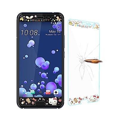 三麗鷗 授權正版 HTC U11 全隱形玻璃保護貼(熊熊凱蒂) 非滿版