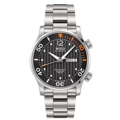 MIDO 美度 MULTIFORT 舵手系列經典機械錶-黑/42mm