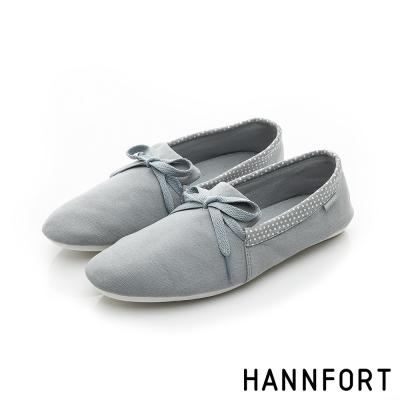 HANNFORT FLEX360簡約學院風平底鞋-女-淺藍綠