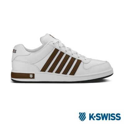 K-Swiss Thelen S休閒運動鞋-男-白/咖啡