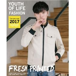 美國熊 騎士風格 修身版型 顯瘦 韓版 立領夾克外套