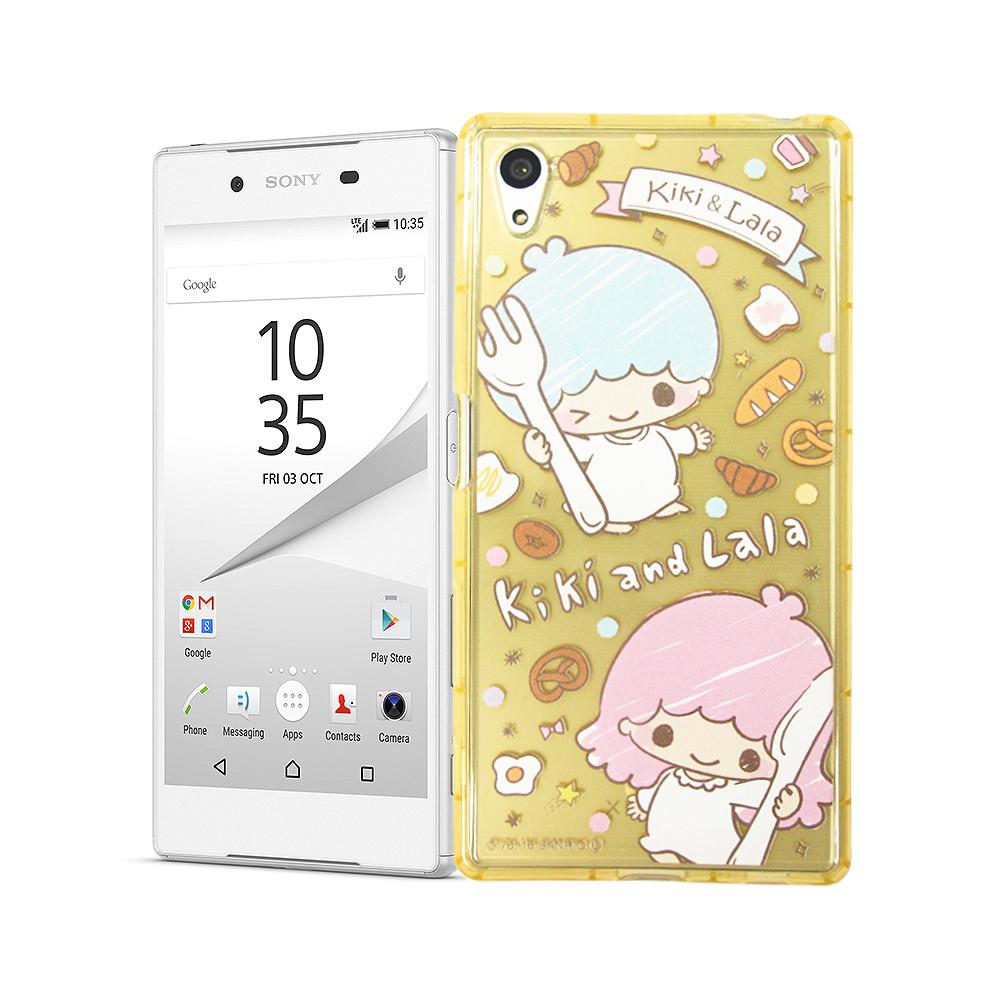 三麗鷗KiKiLaLa雙子星 SONY Z5 Premium 夢幻防震空壓殼(雙子甜點)