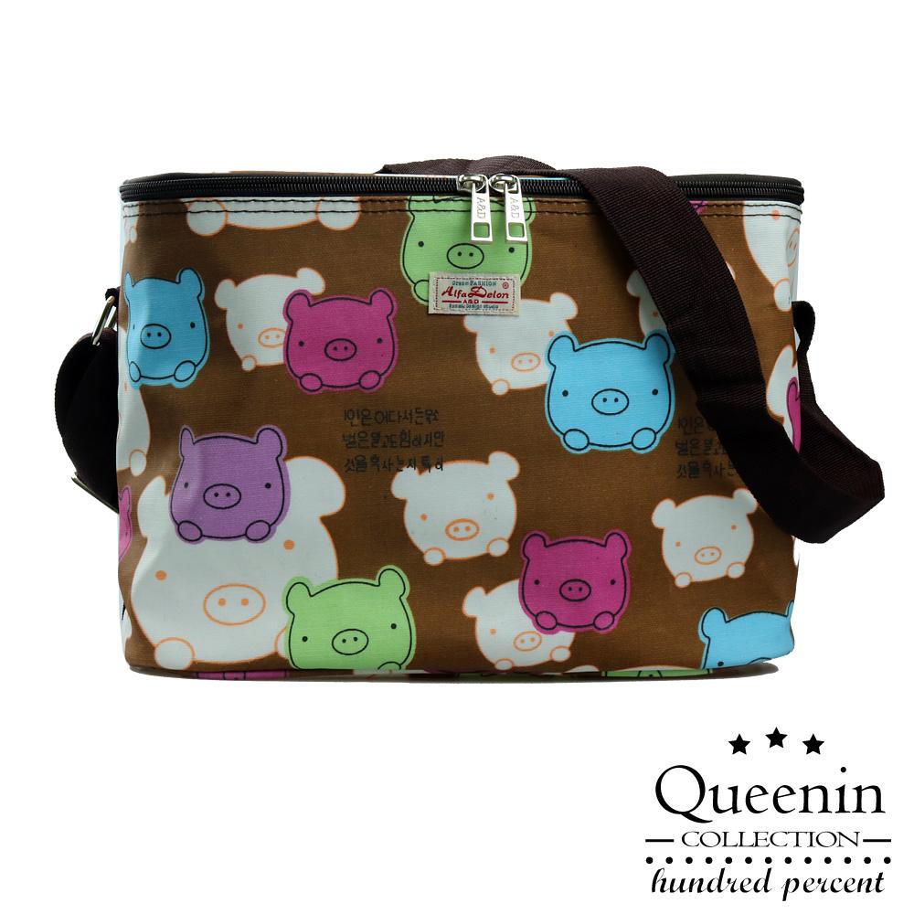 DF Queenin - 野餐系繽紛風輕便防水保溫保冷袋-共4色