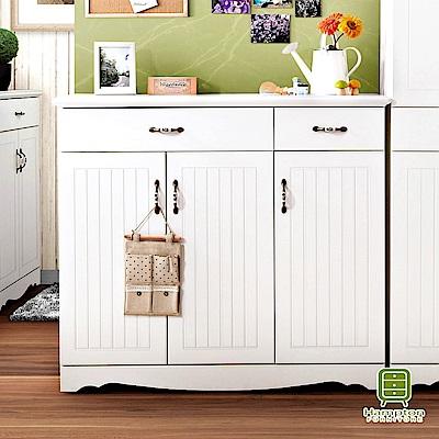漢妮Hampton珀西系列純白4尺鞋櫃-121x40x107cm