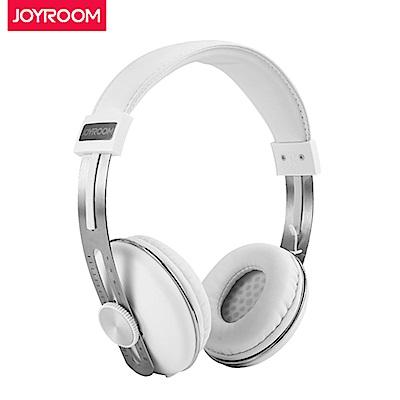 【JOYROOM】HP768 多功能抗噪頭載耳罩式線控耳機-白色