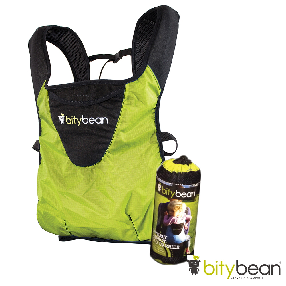 美國bitybean 膠囊揹巾搭配帽兜組 - 萊姆綠