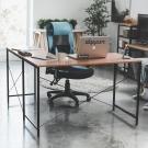Home Feeling L型書桌椅組+電腦椅(12色可選)-120x60x75cm