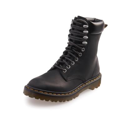 Dr.Martens PADTEN-綁帶霧面馬汀靴-女款-黑色