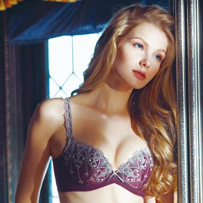 【La Felino】寶石系列3/4罩剪接款內衣 (魅力紫)