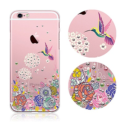 apbs iPhone6s/6 Plus 5.5吋 施華洛世奇彩鑽手機殼-蜂鳥
