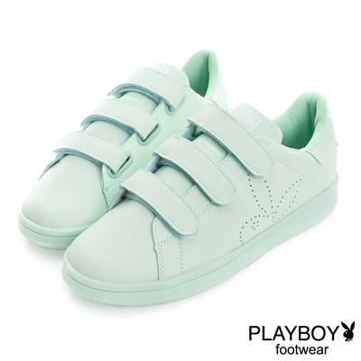 PLAYBOY 簡約生活 單色百搭定番款休閒鞋-綠(女)