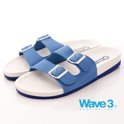 WAVE3男款】釘電銀扣水手鞋-藍(17101534)