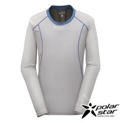 PolarStar 男 吸排長袖圓領衫 MIT 台灣製『灰』P17211