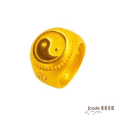 J'code真愛密碼 運轉錢坤黃金戒指