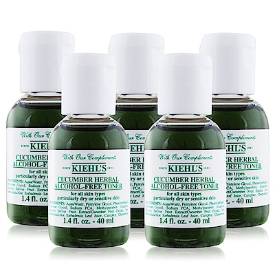 KIEHLS契爾氏 小黃瓜植物精華化妝水40MLX5