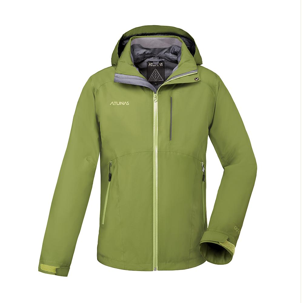 【ATUNAS 歐都納】男款防水GORE-TEX二件式風衣外套A-G1724M綠
