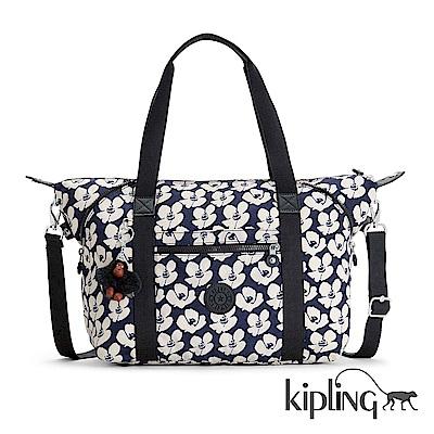 Kipling 斜背包 夏日時光花卉印花-大