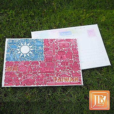 JB DESIGN-文創畫布明信片-729_國旗插畫