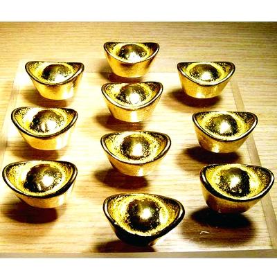 開運陶源【金元寶 】(小)10個/包 實心正銅