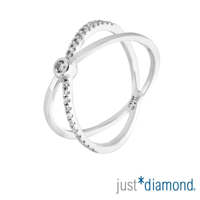 Just Diamond 18K金鑽石戒指-愛‧焦點