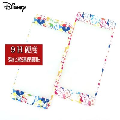 Disney迪士尼iPhone 7 (4.7吋) 9H滿版玻璃保護貼_歡樂繽紛