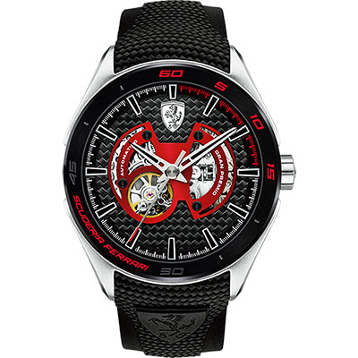 Scuderia Ferrari 法拉利 Gran Premio 霸氣機械腕錶-黑/45m