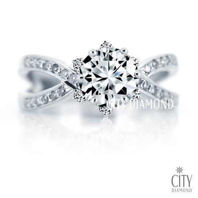 City Diamond『白色櫻海』1.10克拉鑽戒