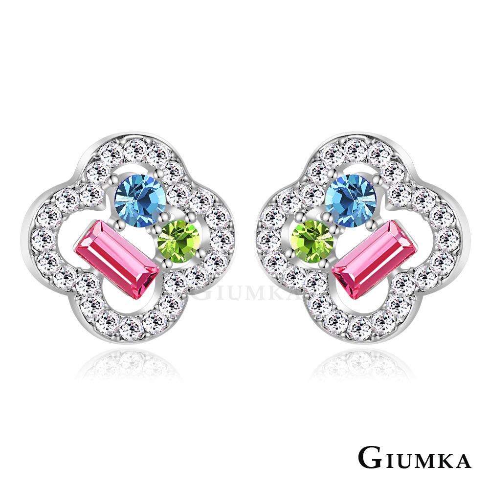 GIUMKA 閃耀之花 耳環-銀色A