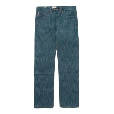 Timberland 男款火焰藍反摺布邊牛仔長褲
