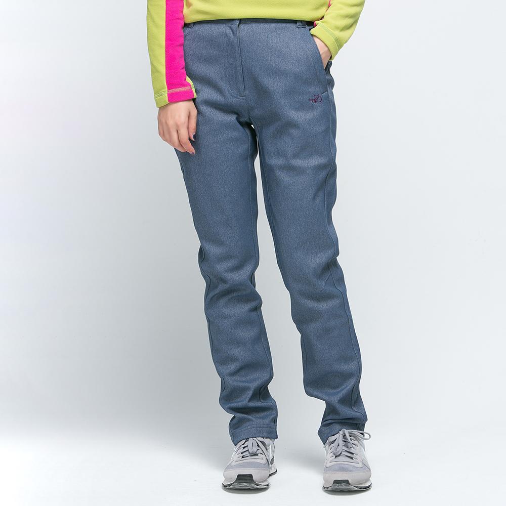 【SNOW FOX 雪狐】女款抗風透氣保暖彈性長雪褲 RP-61456W 深藍