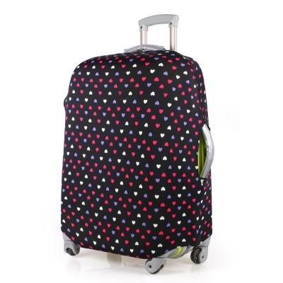 PUSH! 旅遊用品普普風情心心相印行李箱彈力保護套防塵套28寸適合26寸-30寸行李箱
