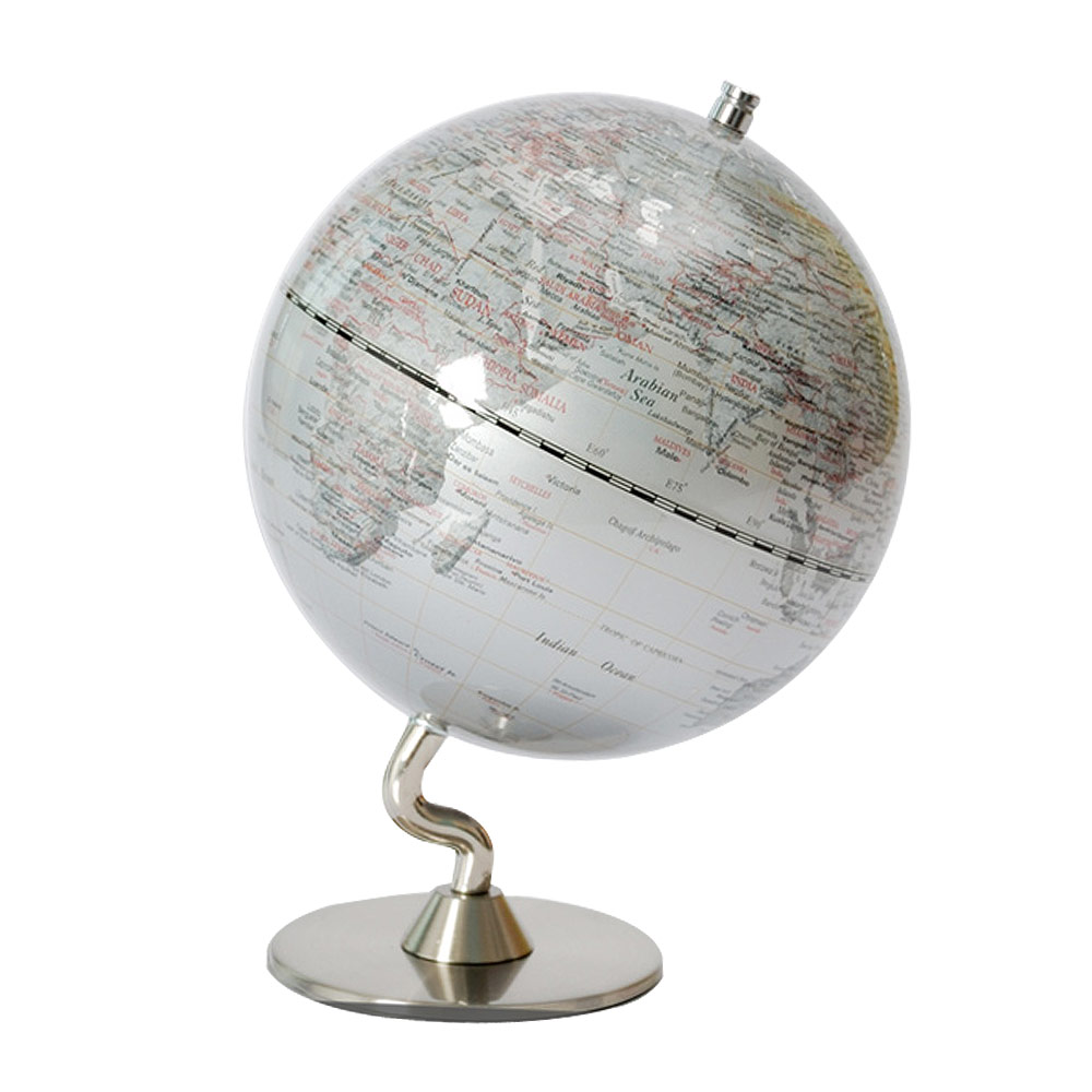 SkyGlobe 5吋銀色時尚地球儀(英文版)