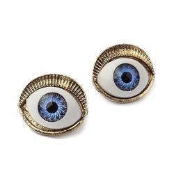 【Aimee Toff】魔幻力量藍眼球耳環