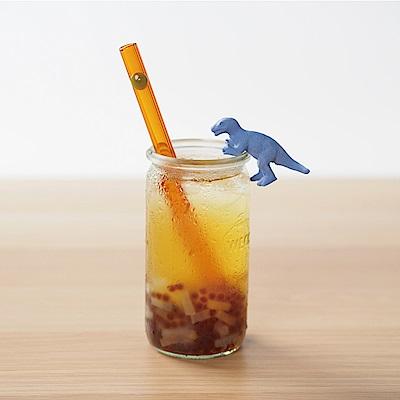 美國strawesome手工玻璃吸管/寬口直式-秋珀(酪梨綠)