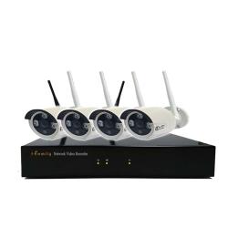 【宇晨I-Family】免配線/免設定1080P四路式無線監視系統套裝(一機四鏡頭)